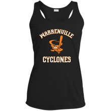 Load image into Gallery viewer, Cyclones Logo Ladies' Racerback Moisture Wicking Tank