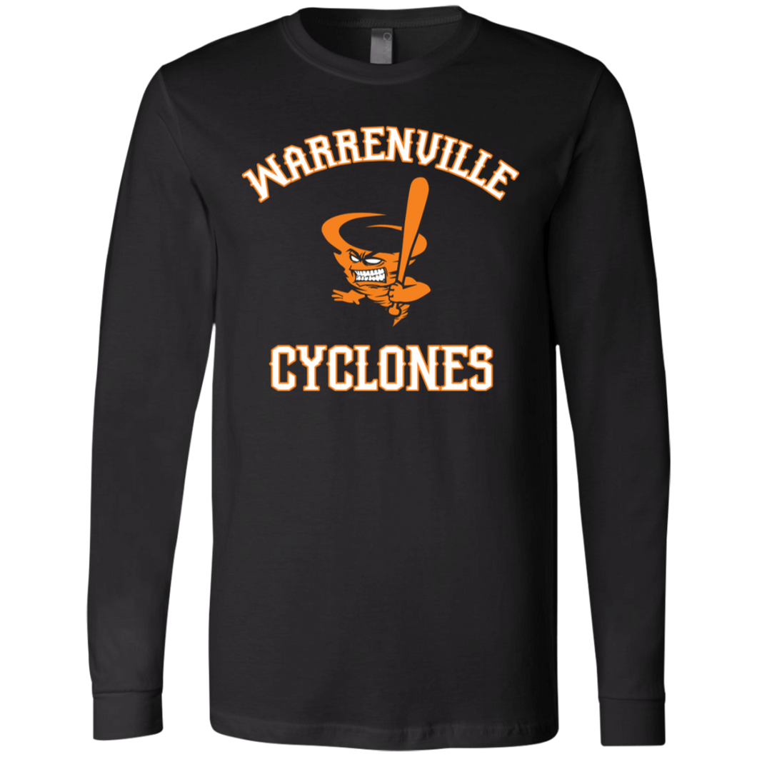 Cyclones Full Logo (orange) Jersey LS T-Shirt