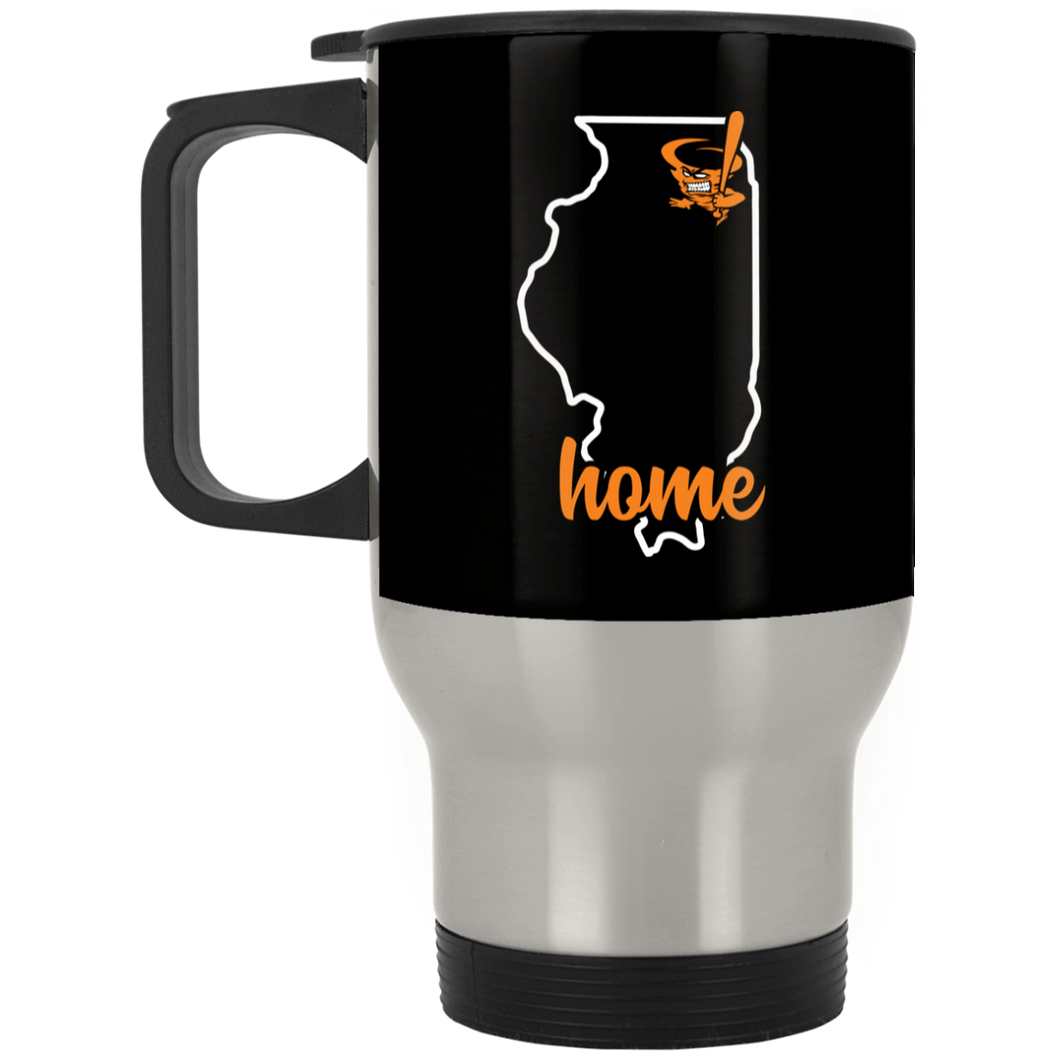 Cyclones Home Silver Stainless Travel Mug