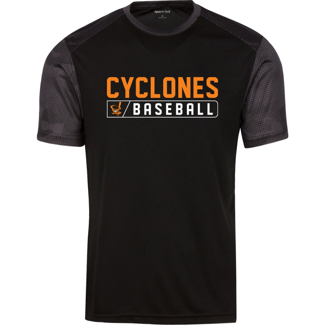 Cyclones Bar Logo (orange) CamoHex Colorblock T-Shirt