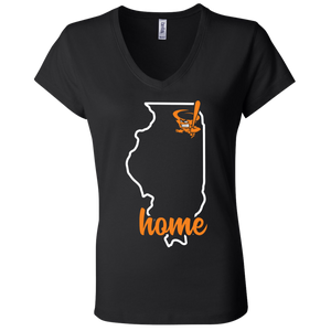 Cyclone Illinois Home  Ladies' Jersey V-Neck T-Shirt
