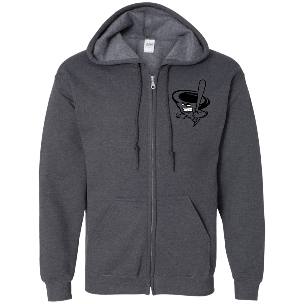 ClyconeMan (black) Zip Up Hooded Sweatshirt