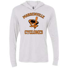 Load image into Gallery viewer, Cyclones Full Logo (BK/Or)Triblend LS Hooded T-Shirt