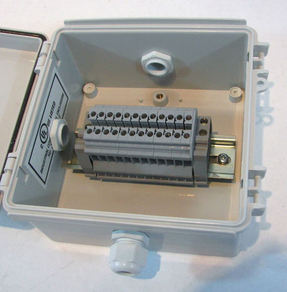 Plastic Junction /Splice Boxes with or without Terminal Blocks - 6-16 AWG