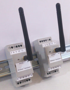 Wireless 4-20mA Transmitter / Receiver Din-rail Set - 2.4 GHz