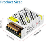 12V DC Power Supply - 5A, 60W (110-220V AC)