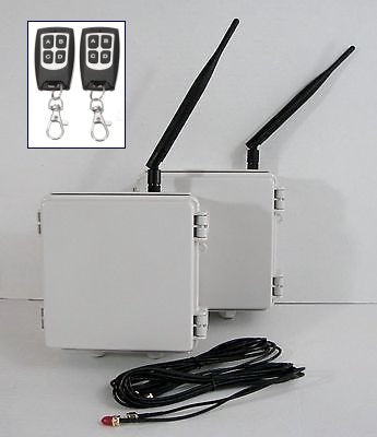 Long Distance 2.4 GHz Wireless Remote Control Switch Transmitter / Relay Receiver with Key fob Transmitters - 1 Mile