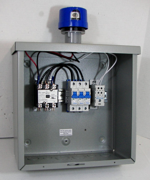Lighting Control / Contactor Panel with Standard Twist-lock Photocell Socket - 120/240V AC Operation