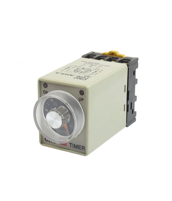 Adjustable Delay Timer Relay with Din-rail Base Socket