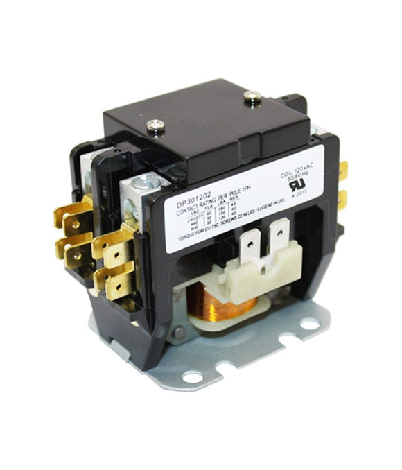 2-Pole 30 Amp Contactor, 120V AC Coil Voltage