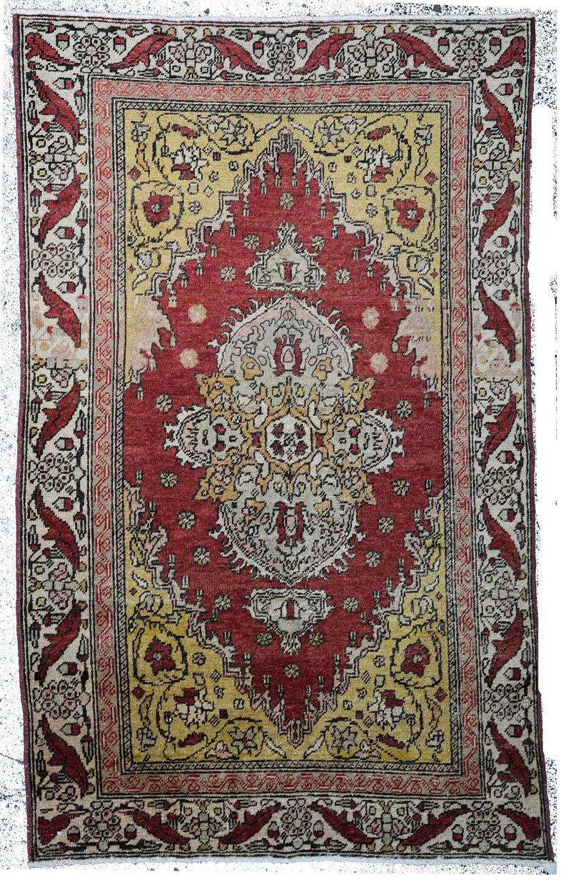 Turkish Oushak Rug 3'2