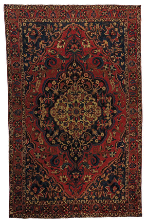 "Persian Bakhtiari Semi Antique 6'8"" x 10'7"""