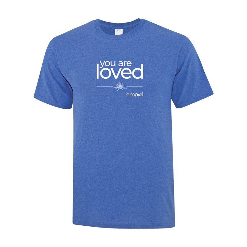 Load image into Gallery viewer, positive intention tee - you are loved - men's