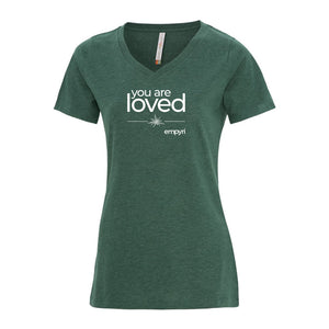 positive intention tee - you are loved - women's