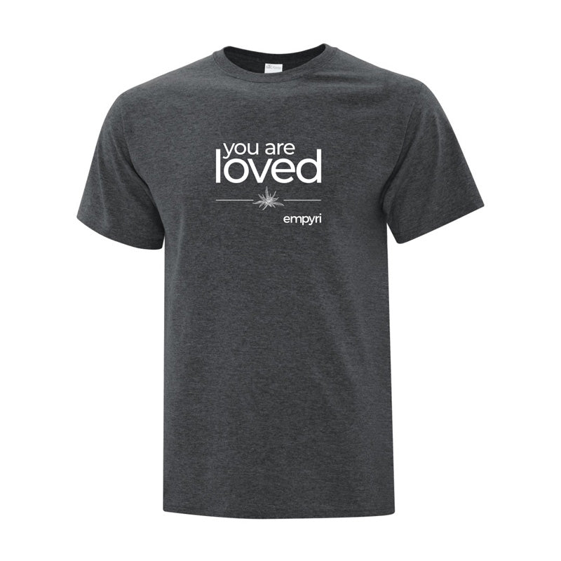 positive intention tee - you are loved - men's