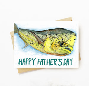 Fisherman fathers day card
