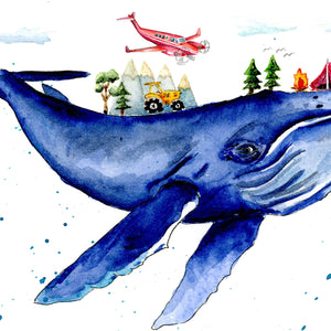 Humpback whale dreams print