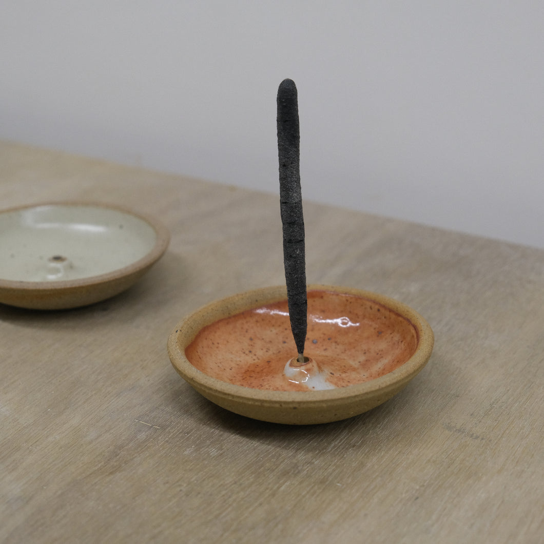 Incausa |  Stoneware Incense Holder (Shino)