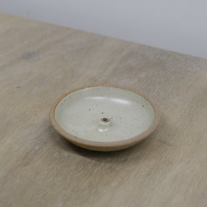 Incausa |  Stoneware Incense Holder (Piker White)
