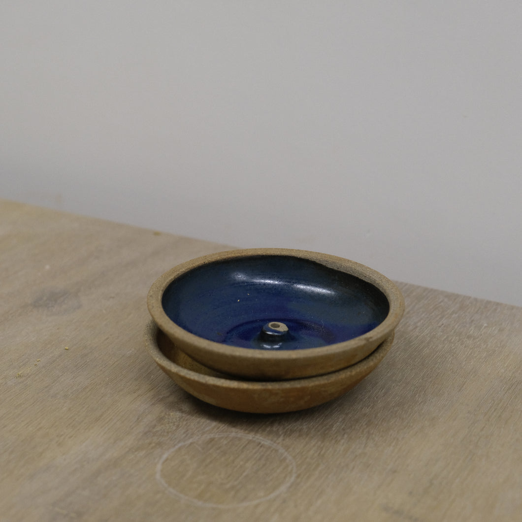 Incausa |  Stoneware Incense Holder (Blue)