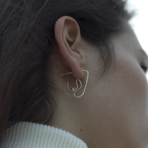 Knobbly | Deconstructed Nude Earring (S)
