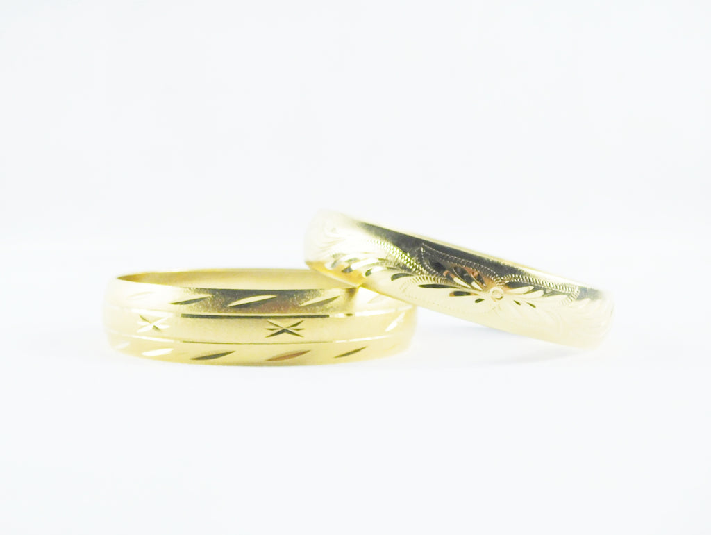 Gold hawaiian or star bangle bracelet - Ilumine Gallery Store dainty jewelry affordable fine jewelry