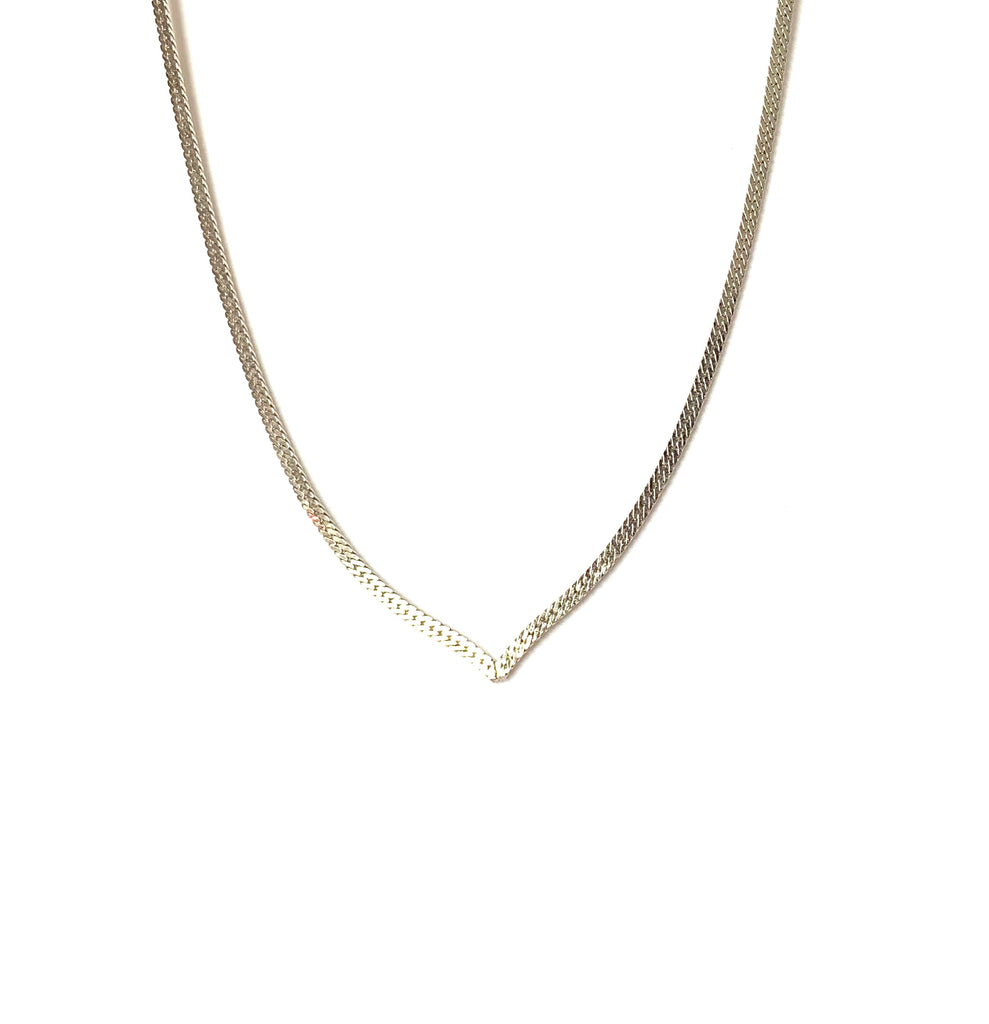 Sterling silver rhodium necklace chain - Ilumine Gallery Store dainty jewelry affordable fine jewelry