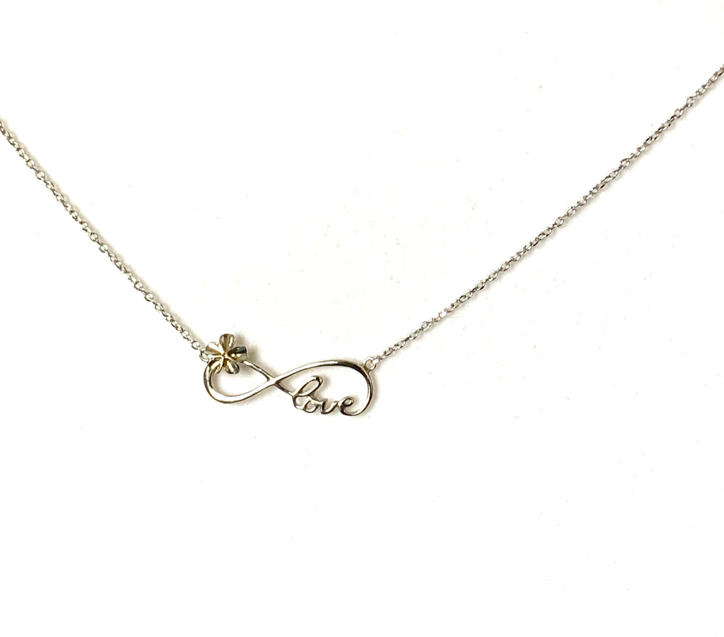 Necklace sterling silver with love pendant - Ilumine Gallery Store dainty jewelry affordable fine jewelry