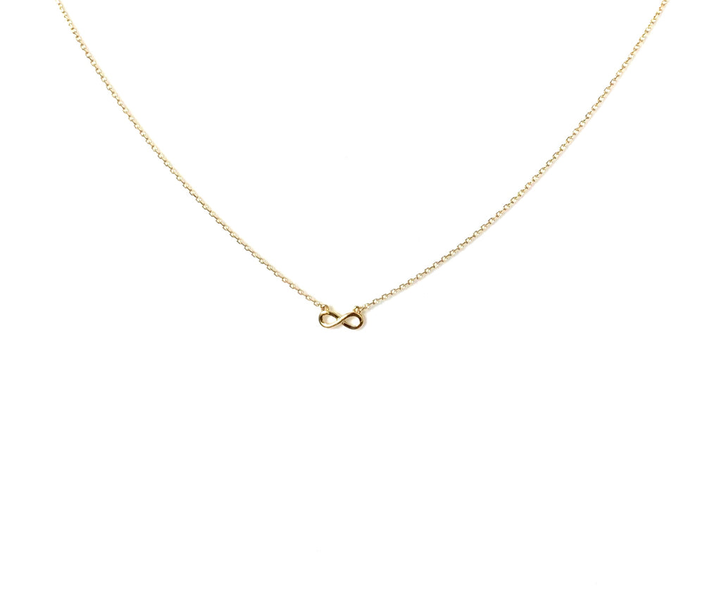 Necklace gold or silver with infinity pendant - Ilumine Gallery Store dainty jewelry affordable fine jewelry