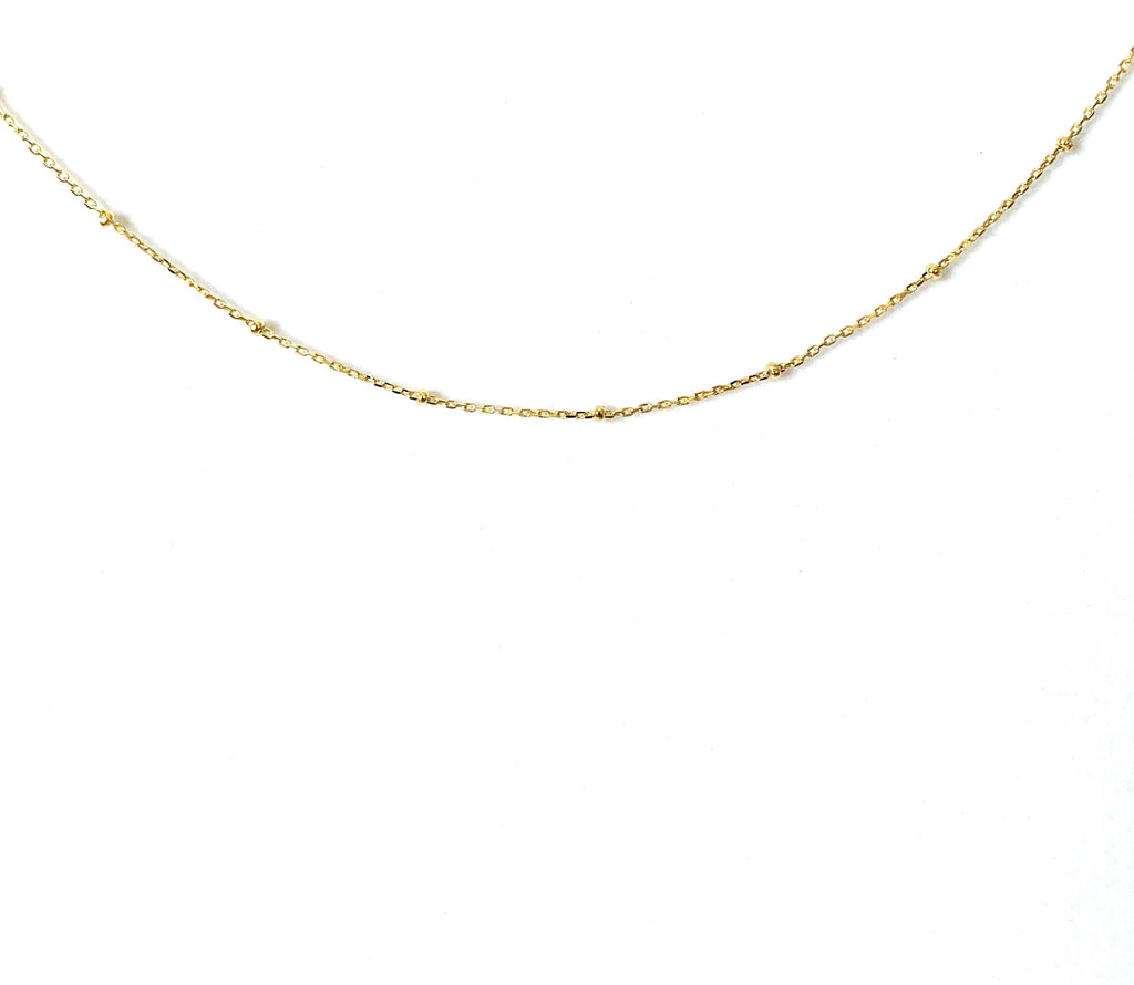 Choker yellow gold with tiny dots - Ilumine Gallery Store dainty jewelry affordable fine jewelry