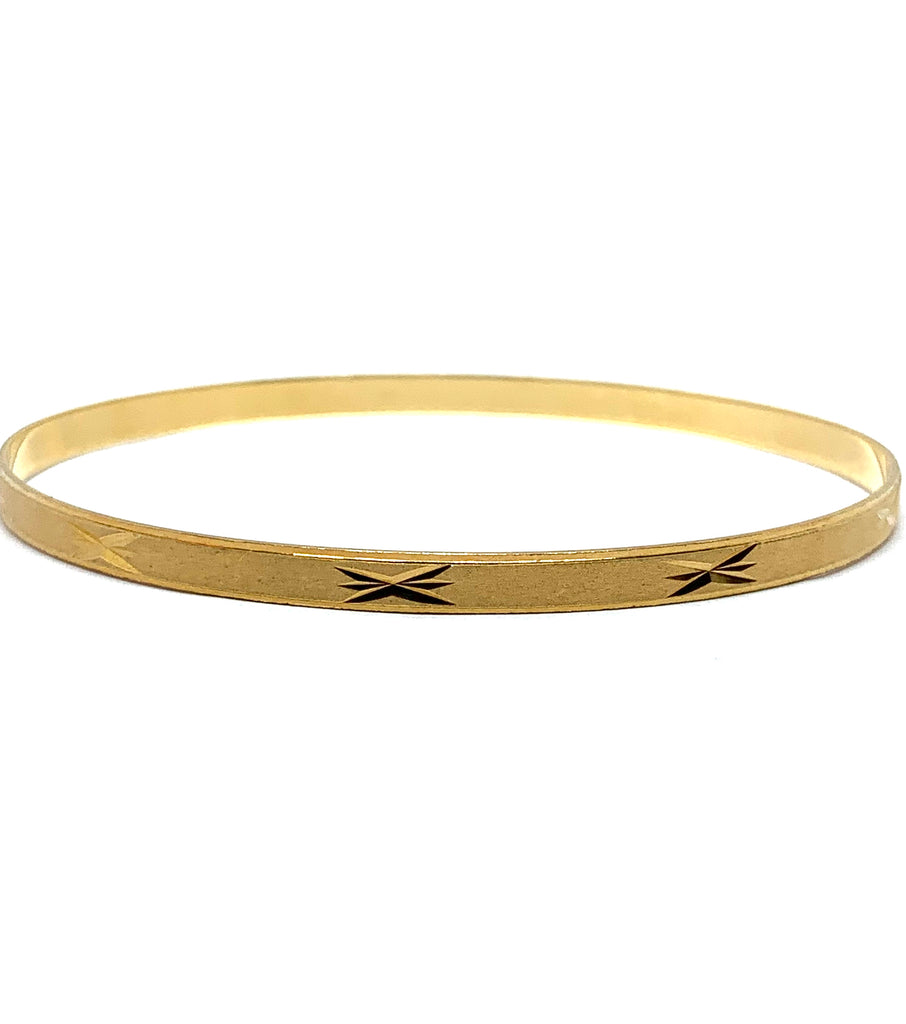 Yellow gold overlay starburst bangle - Ilumine' Gallery