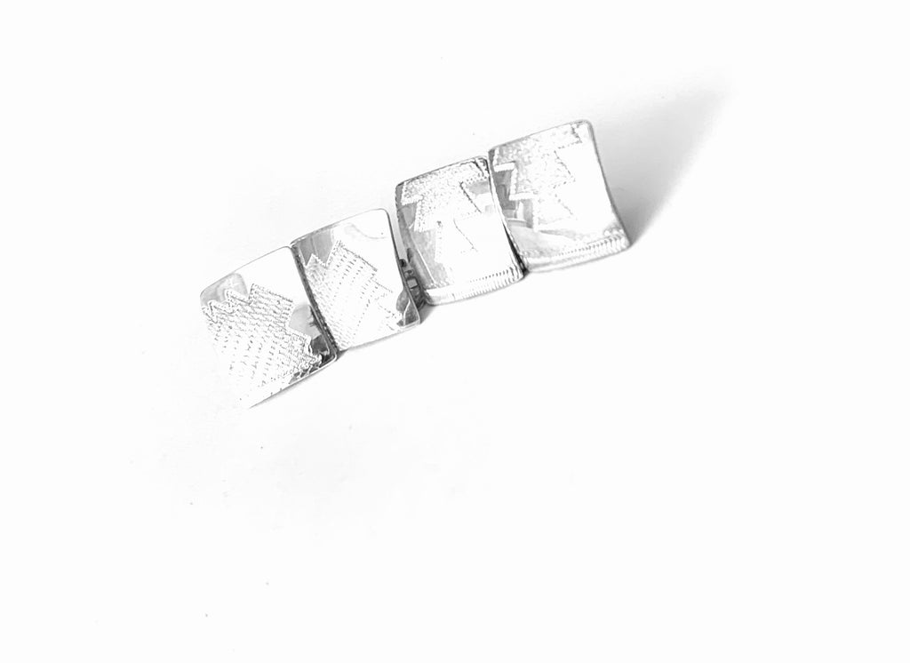 Square sterling silver studs - Ilumine Gallery Store dainty jewelry affordable fine jewelry