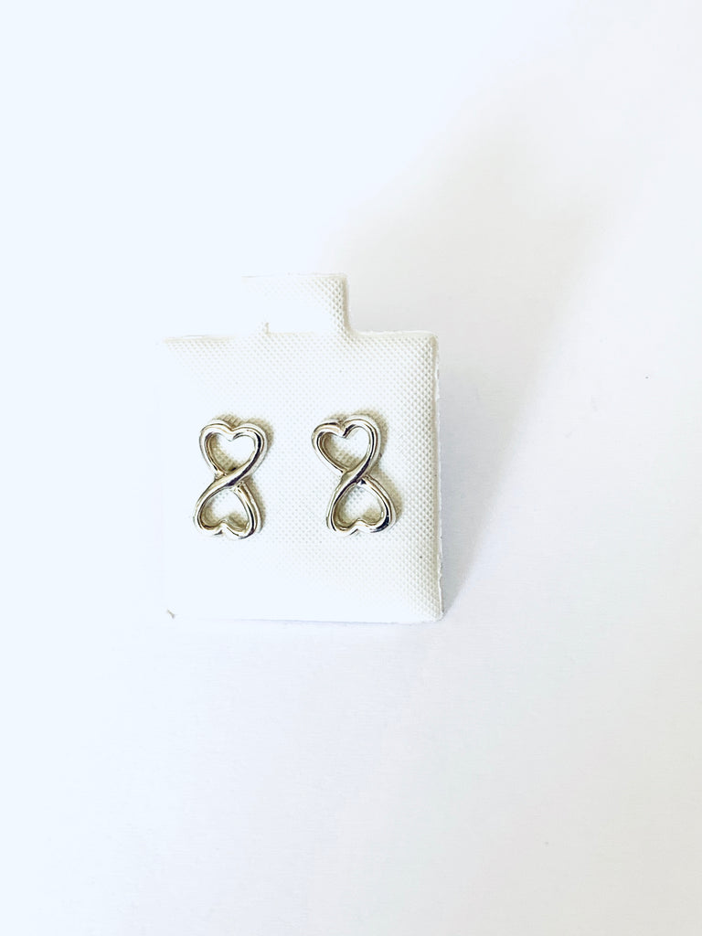 Earrings sterling silver infinity symbol studs - Ilumine Gallery Store dainty jewelry affordable fine jewelry