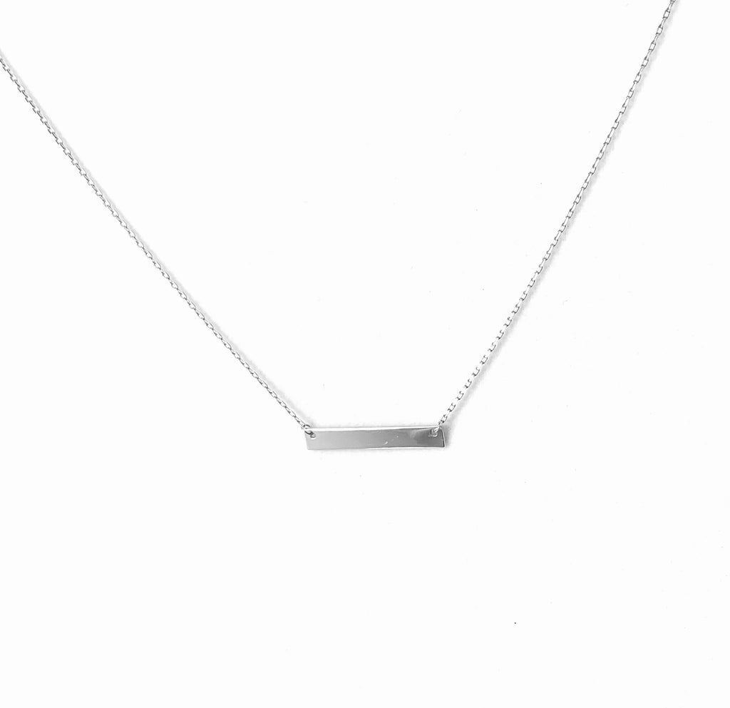 Sterling silver ID bar pendant - Ilumine Gallery Store dainty jewelry affordable fine jewelry