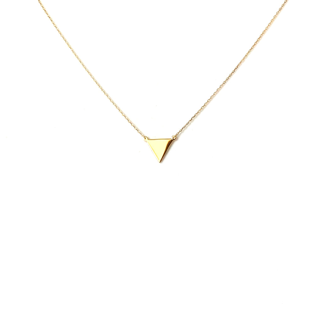 Gold or silver triangle pendant - Ilumine Gallery Store dainty jewelry affordable fine jewelry