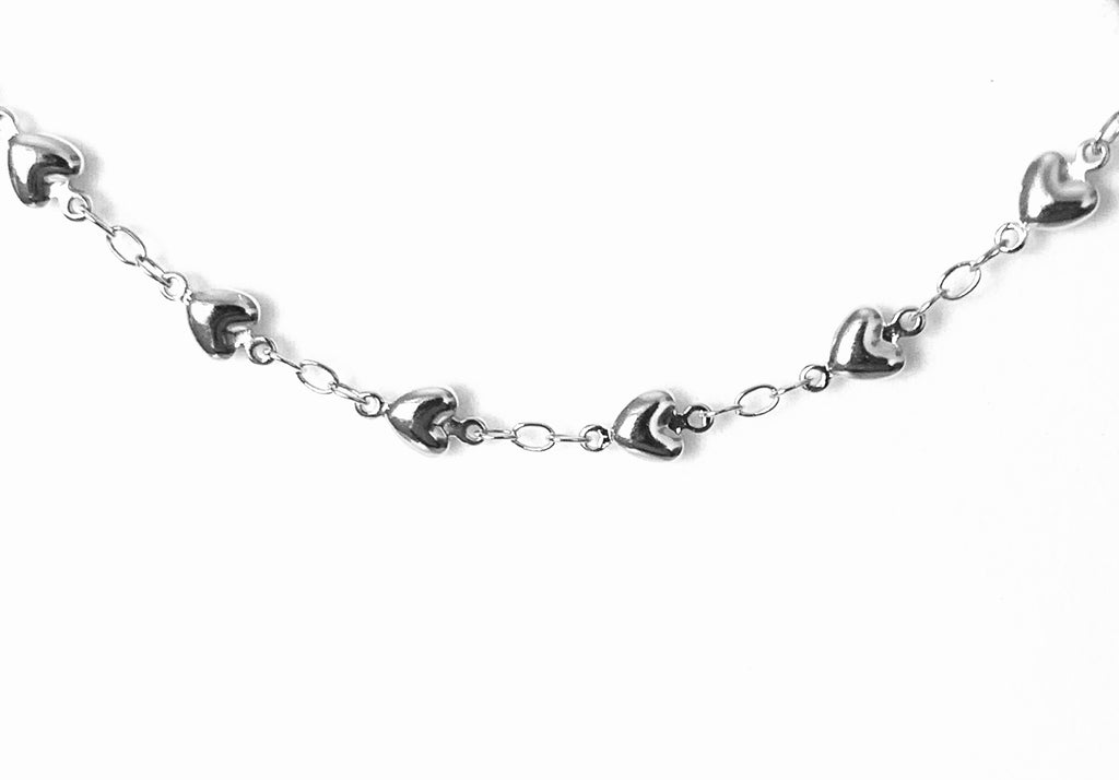 Anklets sterling silver hearts - Ilumine Gallery Store dainty jewelry affordable fine jewelry