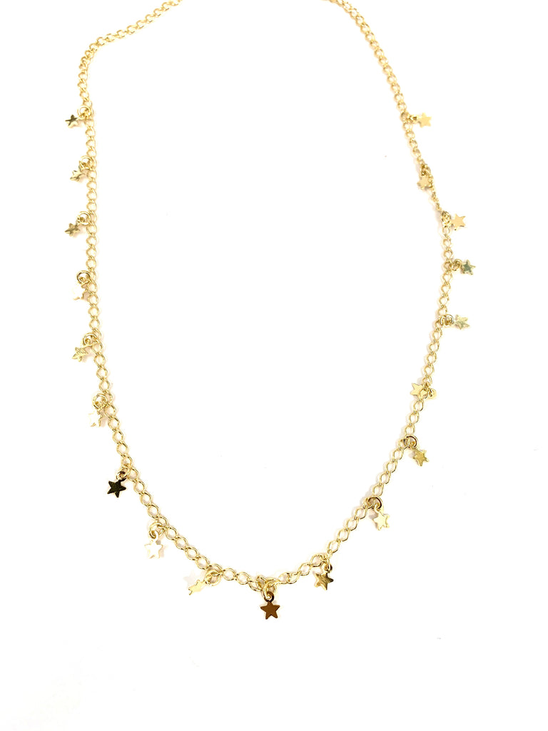 Gold stars choker necklace - Ilumine Gallery Store dainty jewelry affordable fine jewelry
