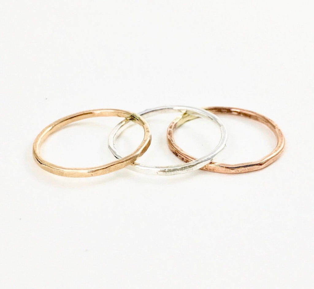 Gold, rose, or silver stacking rings - Ilumine' Gallery