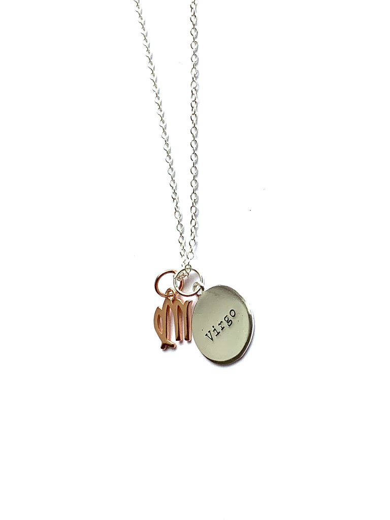 Necklace sterling silver and rose gold zodiac pendants - Ilumine Gallery Store dainty jewelry affordable fine jewelry