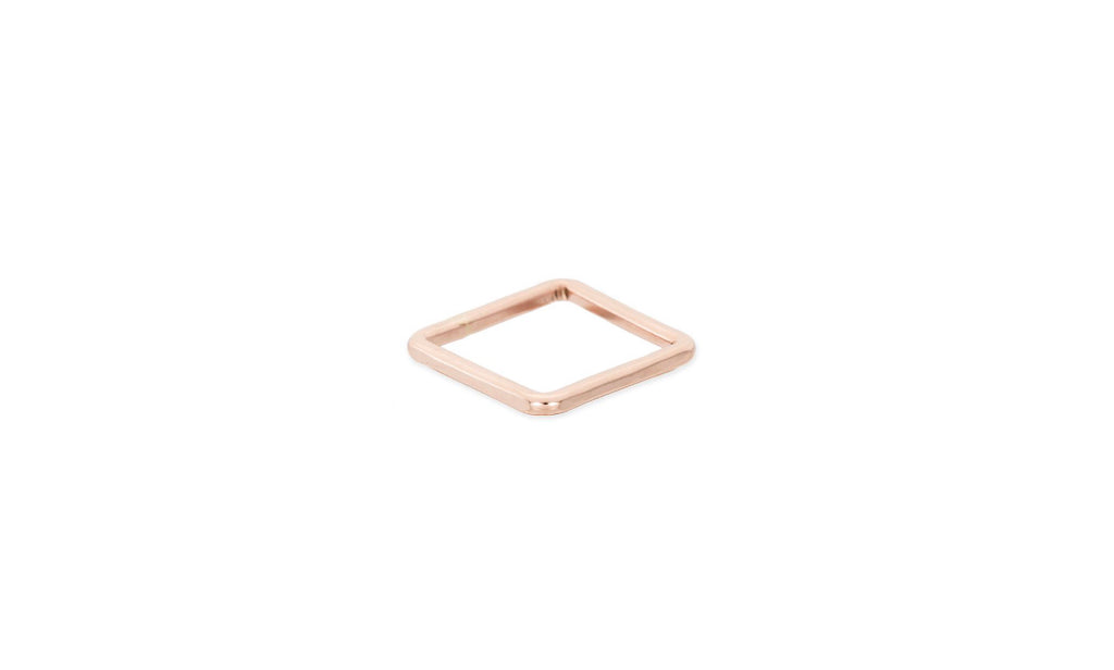 Ring handcrafted rose gold square ring - Ilumine Gallery Store dainty jewelry affordable fine jewelry