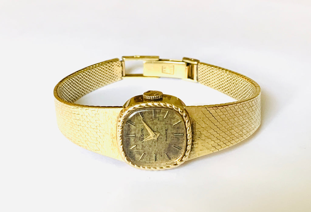 Solid yellow gold vintage watch - Ilumine Gallery Store dainty jewelry affordable fine jewelry