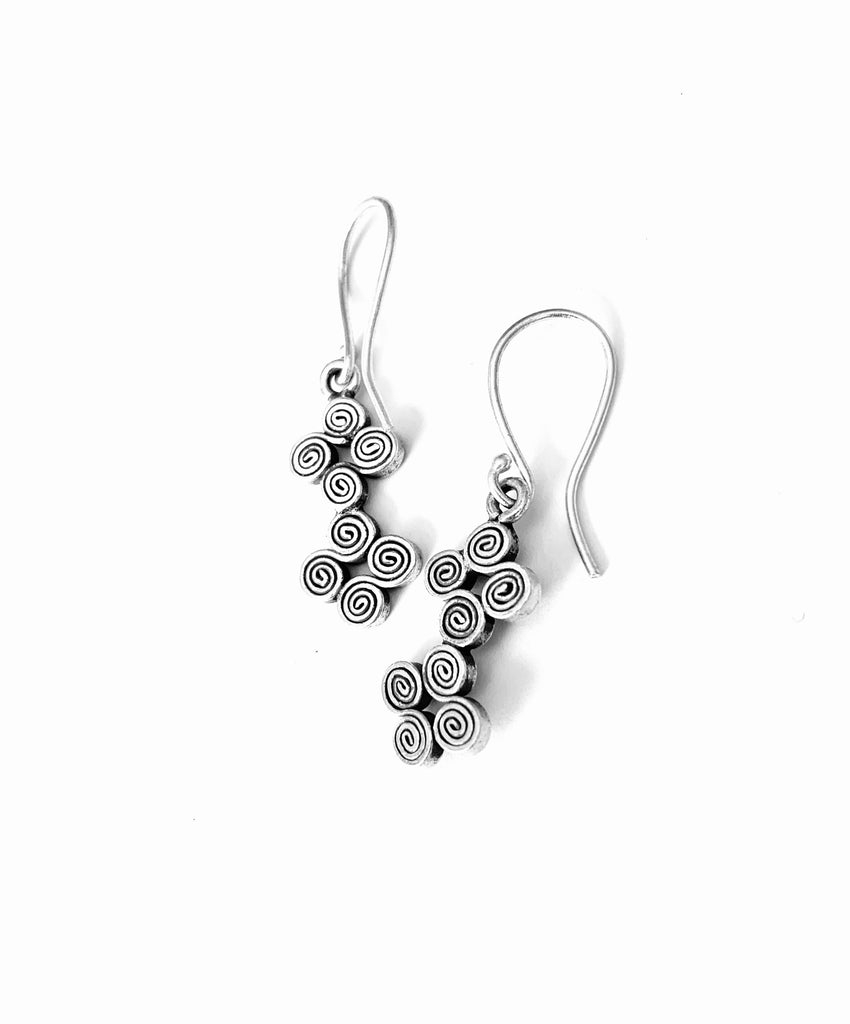 Earrings sterling silver handcrafted by designer Lanna - Ilumine Gallery Store dainty jewelry affordable fine jewelry