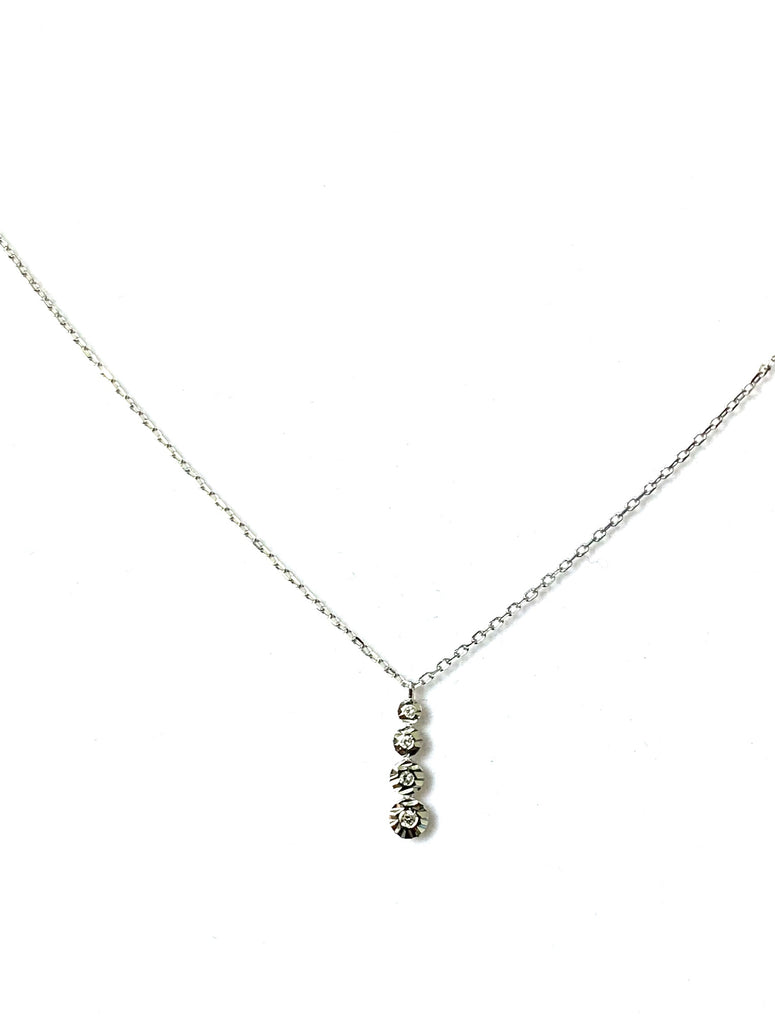 Sterling silver with vertical stick pendant - Ilumine Gallery Store dainty jewelry affordable fine jewelry