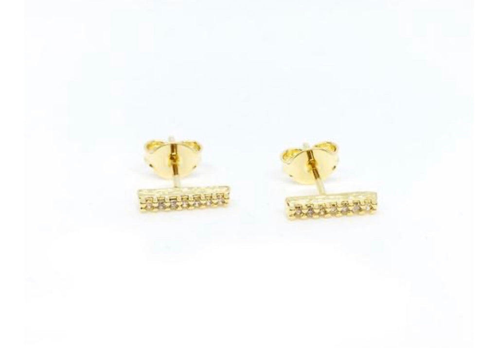 Earrings dainty bar studs - Ilumine Gallery Store dainty jewelry affordable fine jewelry