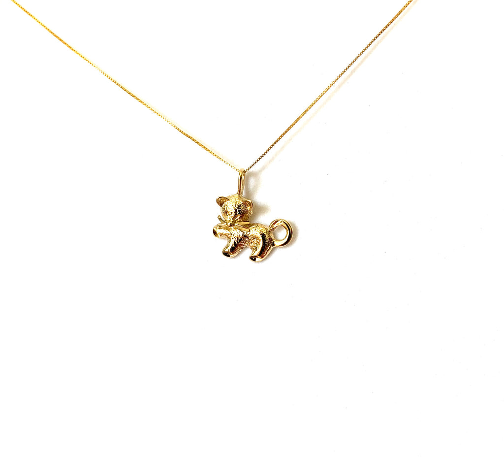 Necklace yellow gold overlay or SS925 with cat pendant - Ilumine Gallery Store dainty jewelry affordable fine jewelry