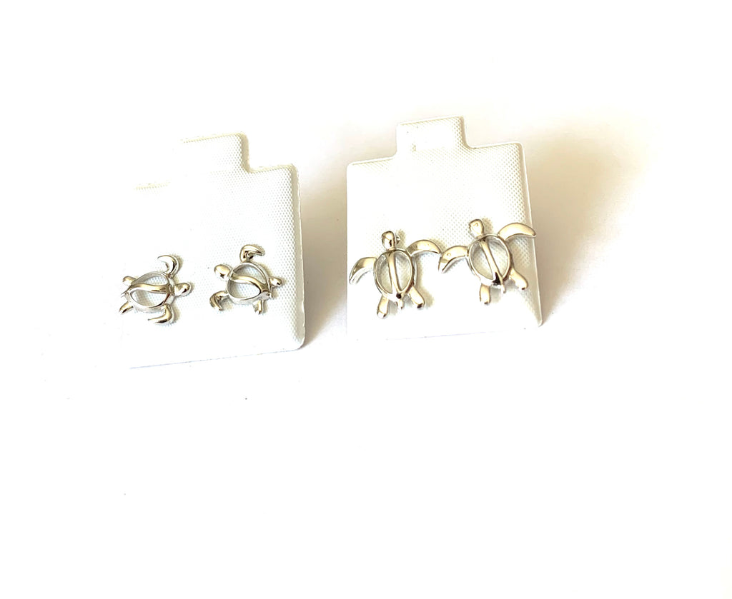 Earrings sterling silver turtles studs - Ilumine Gallery Store dainty jewelry affordable fine jewelry