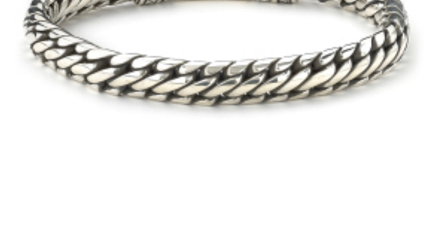 Bracelet sterling silver woven chain design bracelet - Ilumine Gallery Store dainty jewelry affordable fine jewelry