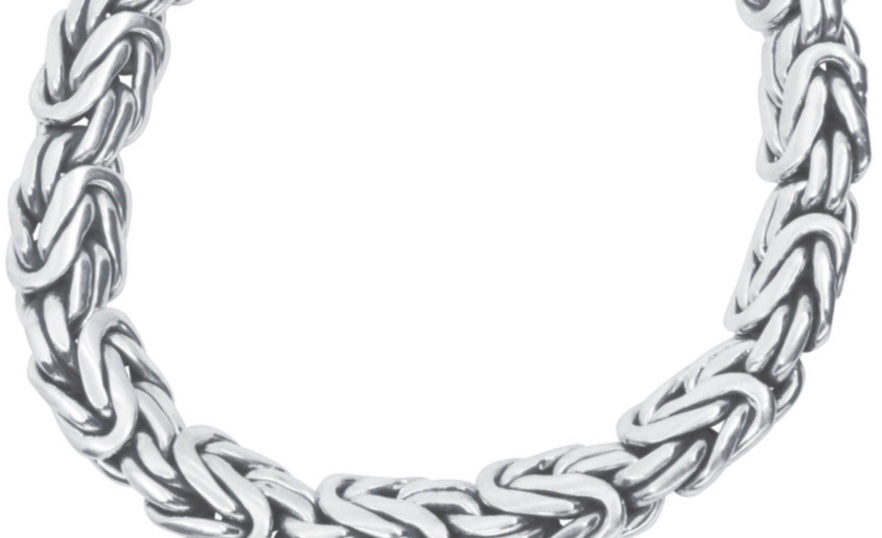 Sterling silver oval chain bracelet - Ilumine Gallery Store dainty jewelry affordable fine jewelry
