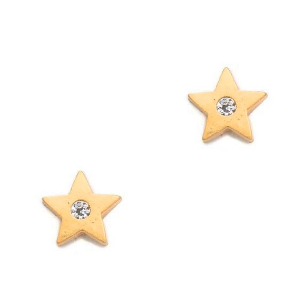 Earrings yellow gold overlay star stud earrings - Ilumine Gallery Store dainty jewelry affordable fine jewelry