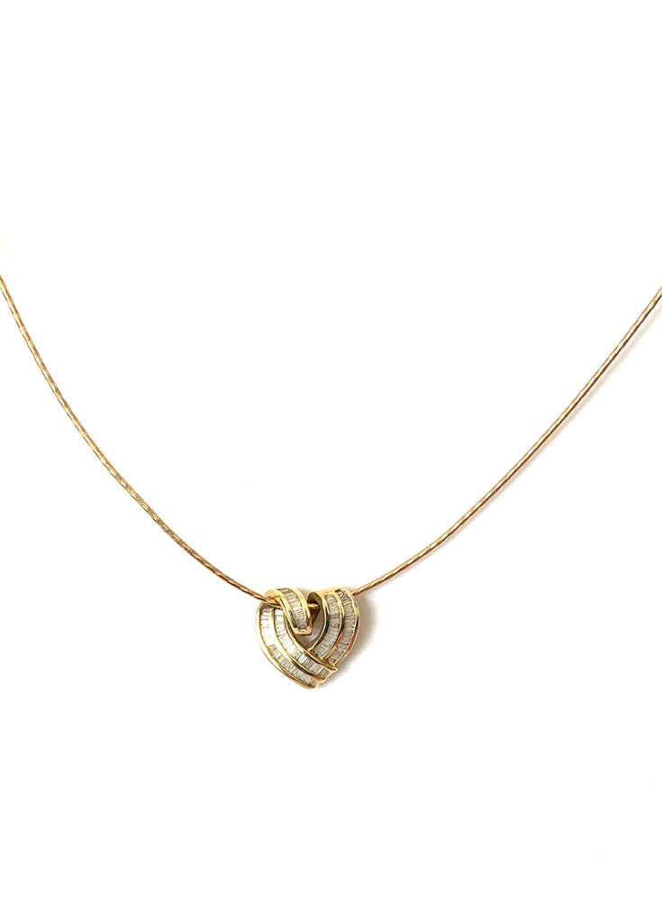 Solid gold omega chain diamond necklace - Ilumine' Gallery